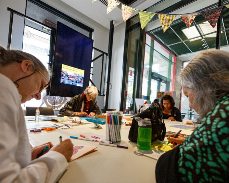 Concordia's engAGE Centre launches the Creative Living Lab at a local storefront