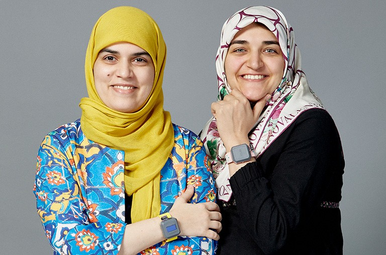 Azadeh Dastmalchi and Zahra Zangenehmadar, co-founders of Vital Tracer. | Image courtesy of District 3