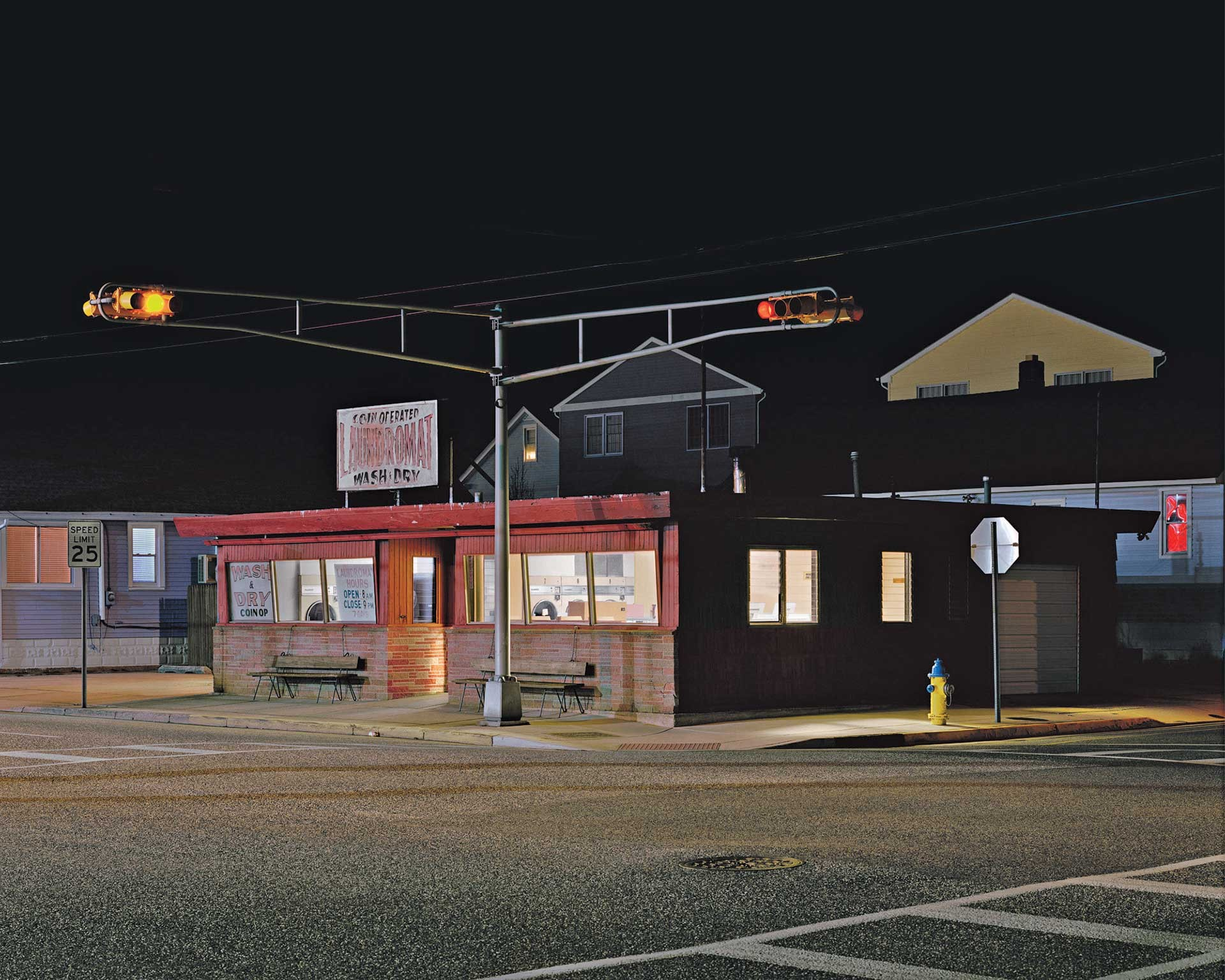 Laundromat (For Hopper), Matthew Brooks, 2018.