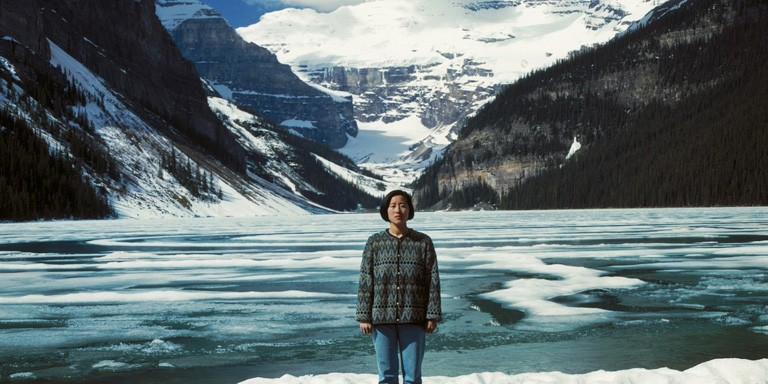 Souvenirs of the Self (Lake Louise), by Jin-me Yoon, 1991.
