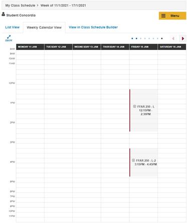 online schedule of classes maker