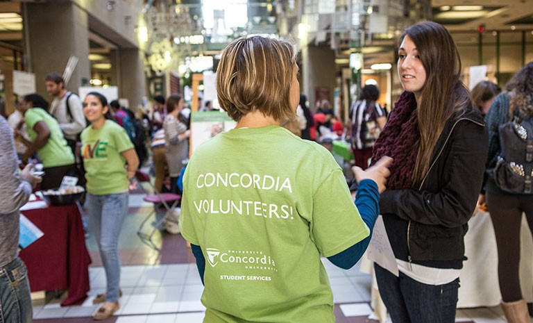 LIVE Centre volunteer helping student
