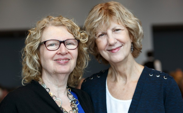 From left: Sharon Frank and Sharon Fitch